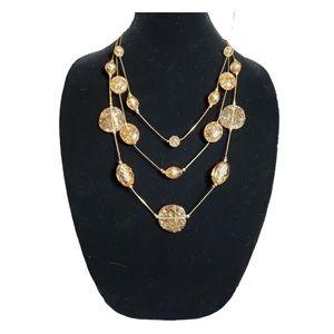 Bohemian Art Deco Foil Glass Beaded Necklace